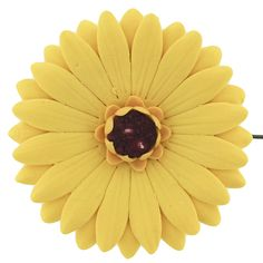 Gerbera Daisy, Sunflower Yellow with Red Center, 8 Count by Chef Alan Tetreault Daisy, Hibiscus & Peony Blossoms by Chef Alan Tetreault