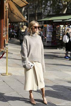 必須アイテム、ミモレ丈スカート「外さないコーデと周りと差がつくコーデ」を研究! の画像|Snapmee スナップミー - ストリートスナップ、セレブファッションスナップ