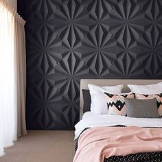 Ref Diamond - Murales Pared Exterior Decor, Creative Wall Decor, Wall Panels Bedroom, Bedroom Panel, Panel Design, Wall Paneling, Wall Design, Tv Wall Decor, Living Room Designs