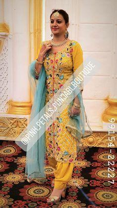 Punjabi Suits Designer Boutique, Boutique Suits, Indian Designer Suits, Embroidery Suits Punjabi, Embroidery Suits Design, Patiala Suit Designs, Kurti Designs Party Wear, Beautiful Dress Designs, Suits For Women