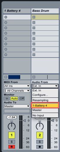 How To Route Battery 4 Cells To Individual Outputs In Ableton Live