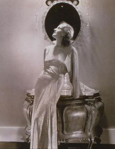 1920s and 30s actress Norma Shearer photographed by Edward Steichen.