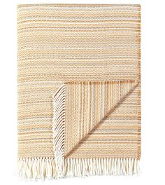 Strié Wheat Throw from Eastern Accents