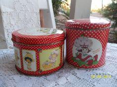 Vintage Strawberry Shortcake Tins by CherryPickins on Etsy, $7.00