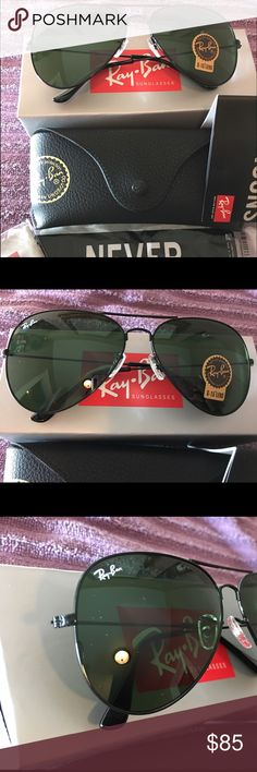 ray ban rb3026 metal green mirror glass  ?authentic ray ban aviator? product description brand: ray ban model: rb 3026 frame color: black lens color:dark green mirror lens size: size) u.v.