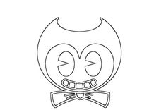 Free Printable Bendy And The Ink Machine Coloring Pages - Free Coloring Sheets Angel Coloring Pages, Cat Coloring Page, Cartoon Coloring Pages, Coloring Pages To Print, Coloring Pages For Kids, Coloring Books, Birthday Cards For Him, Birthday Cards For Boyfriend, Free Coloring Sheets