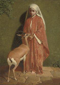 A favourite pet - Charles Burton Barber (1845-1894)