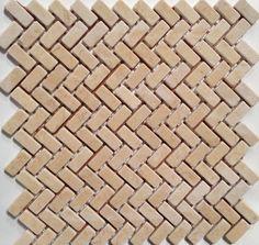 Electronics, Cars, Fashion, Collectibles, Coupons and Stone Mosaic Tile, Mosaic Tiles, Cream White, White Marble, Herringbone, Backsplash, Bathroom, Wood, Kitchen