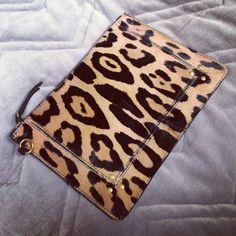 Jerome Dreyfuss leopard popoche. Clutch <3