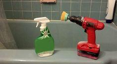 Duşakabin veya küvetteki lekeleri temizlemek için matkap ucunun yerien bir fırça takabilirsiniz.