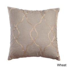 Camay Faux Linen 18-inch Throw Pillow (Set of 2) in WHITE for living room chairs   Overstock™ Shopping - Great Deals on Throw Pillows