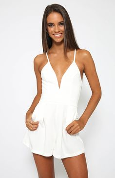 Working Class Hero Playsuit - White from Peppermayo.com