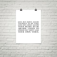 Powerful quote finely crafted in beautiful typography ready to be printed or…