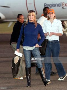 Bo Derek prepares to board a plane at Scone Airport in the Upper Hunter Valley, after a day touring the region's horse studs on April 15 in the Hunter Valley, Australia. Bo Derek Now, Street Fashion, Women's Fashion, Heather Locklear, Sexy Cowgirl, Knee Highs, Sharon Stone, High Knees, Celebs