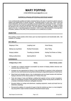 Resume example for a full time job with essential information ...