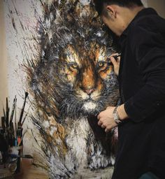 Explosive Splattered Ink Animal Paintings by Hua Tunanby Christopher Jobson on May 7, 2015.
