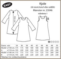Stof og Stil - Kjole - 23046 Syg, Sewing Projects, Sewing Patterns, Words, Model, Cloakroom Basin, Scale Model, Patron De Couture