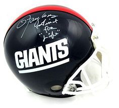 """Lawrence Taylor Signed New York Giants Throwback Authentic Helmet with """"Giant for Life"""" Inscription - LE"""