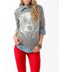 tiger sweatshirt. FOREVER 21!