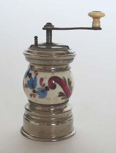Antique Porcelain Gaudy Welsh Pepper Grinder