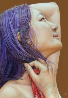 Pastel on Cason Mi-teintes TEX paper, X Sketch of Carol Carol Sketch Portraits Pastel, Colorful Drawings, Art Oil, Painting & Drawing, Dreadlocks, Deviantart, Wells, Pastels, Hair Styles