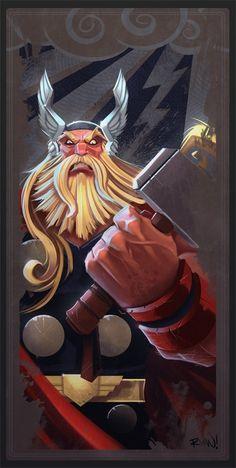 Awesome animated angry Thor