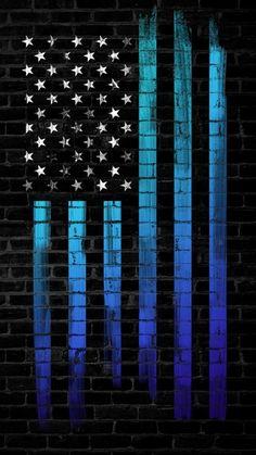 Dark Wall American Flag - iPhone Wallpapers