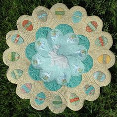 Amanda Murphy's Easter table topper is a free pattern.