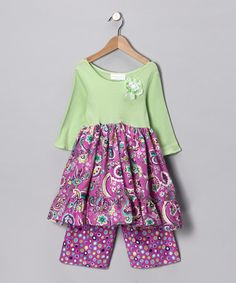 Take a look at this Lime Ruffle Tunic & Pants - Infant by Made in the USA Collection on #zulily today!