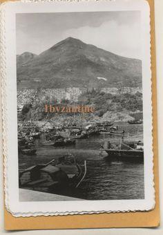 Hong Kong Cai Wan Harbour 1959 Vintage old Photographs China Chinese 柴灣 西灣 China Hong Kong, Royal Mail, Chai, Photographs, Chinese, Vintage, Masala Chai, Fotografie, Vintage Comics