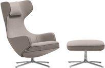 "Vitra Grand Repos & Ottoman | Antonio Citterio 2011 | Chair:  29.25"" w | 32"" d | 43.25"" h | seat: 16.25"" h | Ottoman: 24.5"" w | 24.25"" d | 15.75"" h"