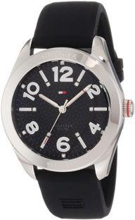Tommy Hilfiger Women's 1781257 Sport Black Silicon Stainless Steel Watch