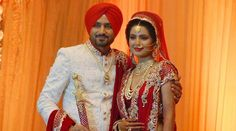 @geeta_basra @harbhajan_singh Wedding, end Oct, 2015, Jalandhar, Bridal Ensemble by @archana_kochhar
