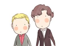 This is the cutest ever. Sherlock fanart.