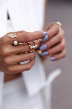 Stacking rings, Pearl Rings