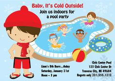 Indoor Pool Party Ideas find this pin and more on es indoor pool birthday party Indoor Pool Party Invitation Winter Pool Party Birthday Invitation Printable For Boys