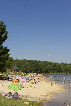 Soak up the sun, lakeside at a #PoconoMtns beach!
