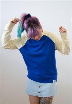 Baseball Sweatshirt - Cobalt