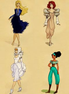 disney princesses with green dresses - Google Search