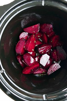 Rosemary Honey Slow Cooker Beets - perfectly tender and incredibly flavorful beets. Simple enough for weekend meal prep and pretty enough for a holiday table. Roasted beets made in a crockpot are a must-try for any beet lover! Zuchinni Recipes, Beet Recipes, Yummy Vegetable Recipes, Vegetable Side Dishes, Easy Beet Recipe, Slow Cooker, Weekend Meal Prep, Winter Vegetables, Veggies