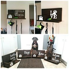 Dog Leash Holder Dog Collar Holder Custom Dog Leash by KaysDekor