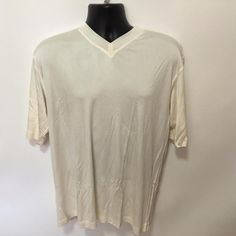If you have a Dad who is fashion forward, here's a versatile designer shirt that can be dressed up or down! Price tag of $225 still attached.  Italian Design Pal Zileri XL Mens Silk V Neck Luxury Polo Shirt NWT Italy Ivory #PalZileri