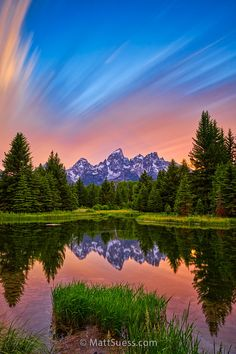 Streaking Clouds at Sunset at the Tetons from Matt Suess Photography
