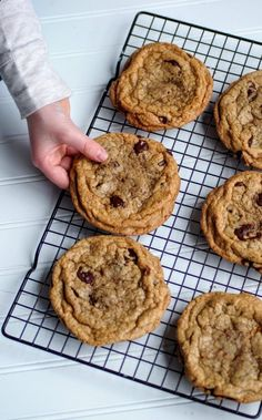 Soft, chewy bakery style chocolate chip cookies.