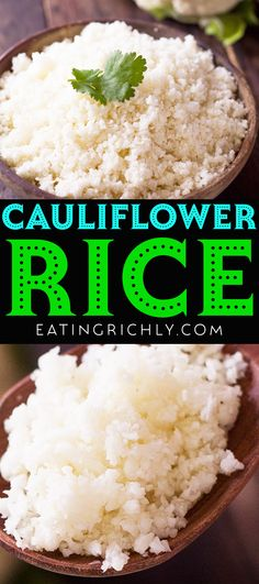 It's so easy to make your own cauliflower rice, which makes a perfect keto side dish recipe for the holidays. Recipe includes stovetop and microwave methods! #cauliflower #cauliflowerrecipes #cauliflowerrice #cauliflowerricerecipes #dinnerrecipes #keto #ketodiet #ketorecipes #ketodinner #ketoChristmas #ketothanksgiving #lowcarb #lowcarbdiet #lowcarbrecipes