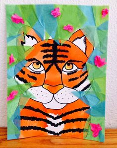 Kathy's AngelNik Designs & Art Project Ideas, Henri Rousseau Tiger in the Jungle art project