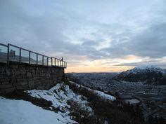 magnificent sunset from Fløyen mountain, Bergen