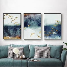 Abstract Flying Bird & Sky Canvas Print Wall Art Poster Airbnb Home Decor. So - Abstract Flying Bird & Sky Canvas Print Wall Art Poster Airbnb Home Decor. So - Cute Paintings, Home Decor Paintings, Home Decor Wall Art, Living Room Decor, Living Room Paintings, Living Room Artwork, Blue Bedroom Decor, Modern Paintings, Living Room Pictures