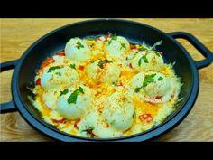 Lahodný a rychlý recept na snídani za 5 minut # 80 - YouTube Cauliflower, Shrimp, Eggs, Meat, Vegetables, Breakfast, Youtube, Food, Recipe