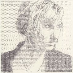 Intricate Typewriter Portraits - 'Textual Portraits' by Leslie Nichols Uses a Typewriter to Make Art (GALLERY)